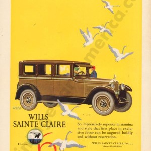 1925 Wills Saint Claire Advertisement #4