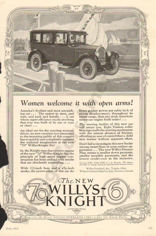 1926 Overland Advertisement #8