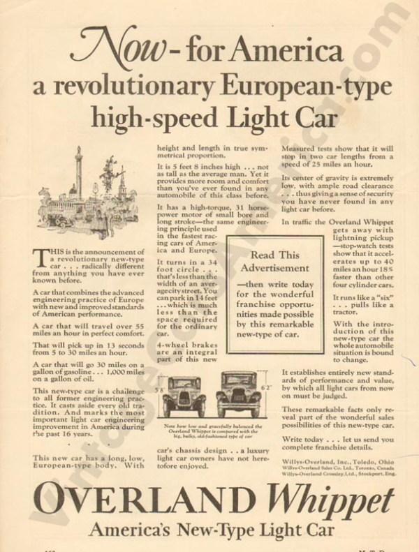 1926 Overland Advertisement #9
