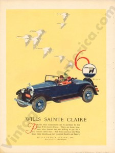 1926 Wills Saint Claire Advertisement #4