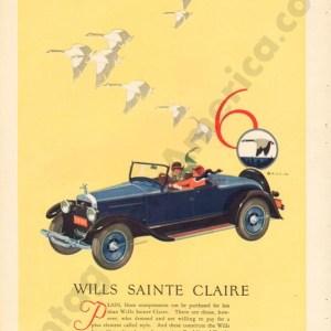 1926 Wills Saint Claire Advertisement #4