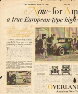 1926 Overland Advertisement #2