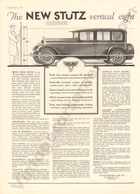 1926 Stutz Advertisement #6