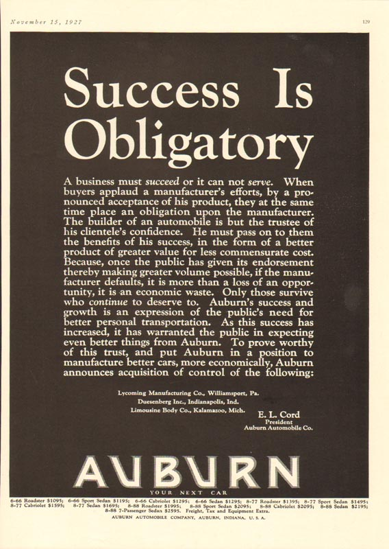 1927 Auburn Advertisement #6