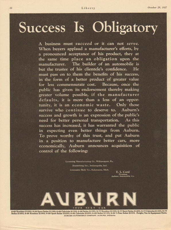 1927 Auburn Advertisement #8