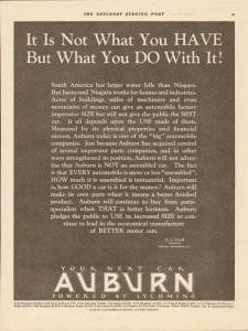 1927 Auburn Advertisement #9