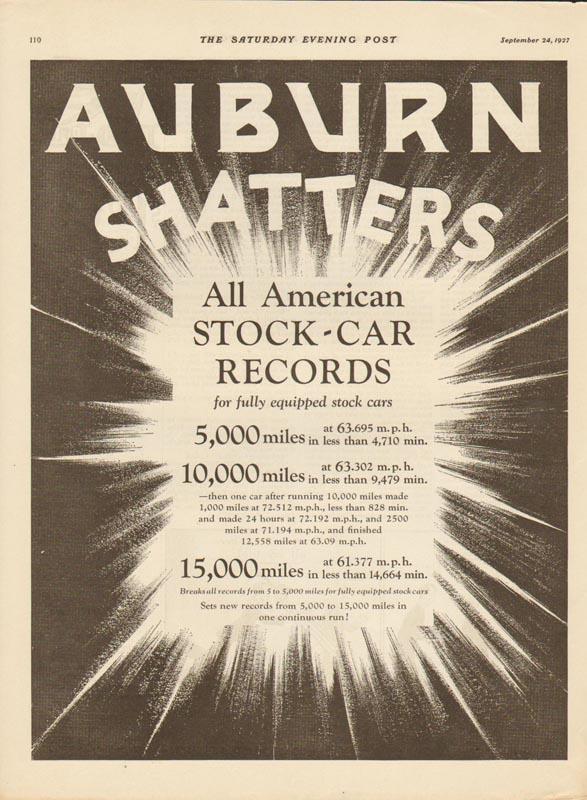 1927 Auburn Advertisement #10