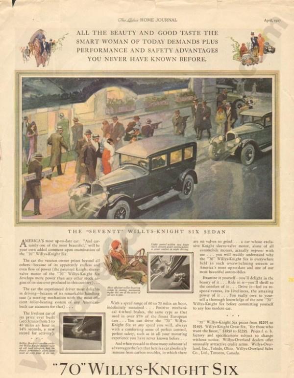 1927 Overland Advertisement #1