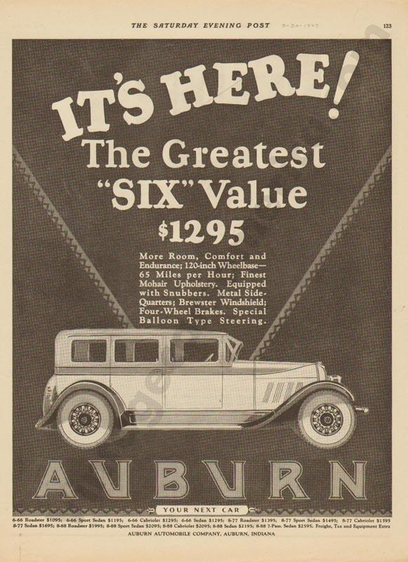 1927 Auburn Advertisement #19