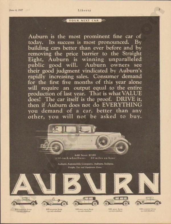 1927 Auburn Advertisement #26