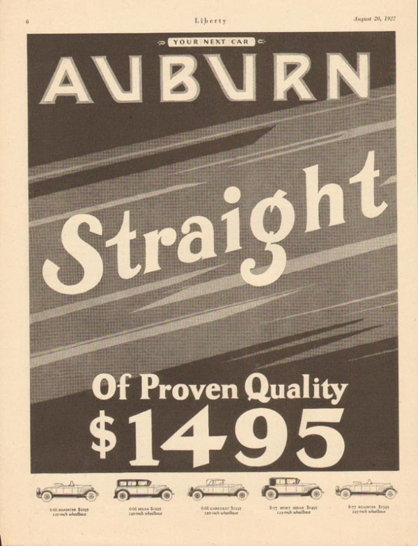 1927 Auburn Advertisement #3