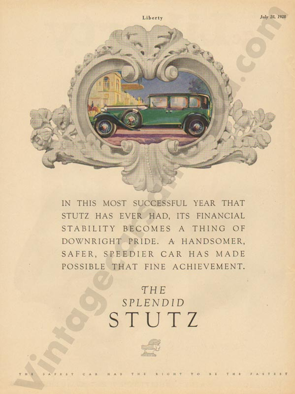 7/281928 Stutz Advertisement