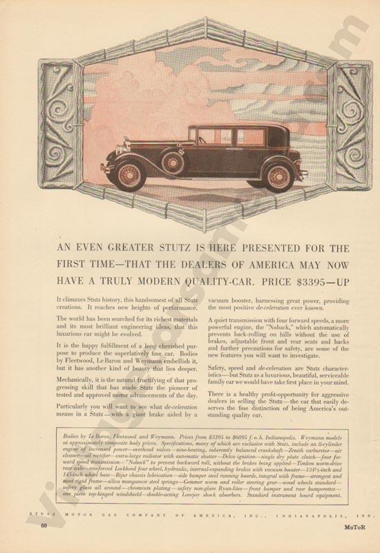 1929 Stutz Advertisement #3