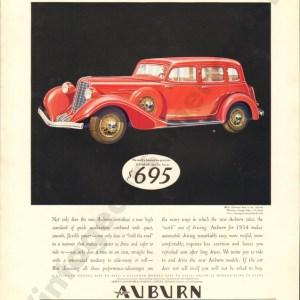 1934 Auburn Advertisement #1