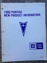 1980 Pontiac Shop Manual