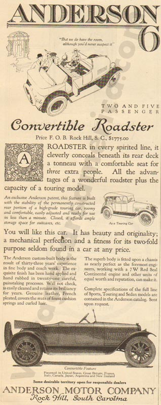 1920 Anderson Advertisement #5