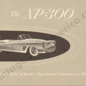 1952 Buick XP-300 Brochure