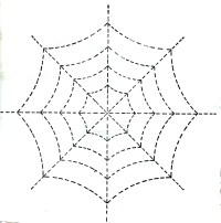 halloween spider web template