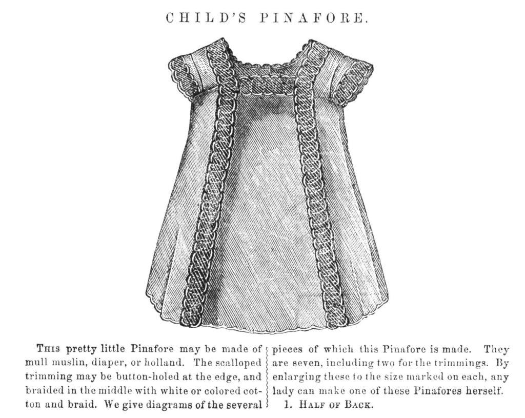 S Child S Pinafore Dress Sewing Pattern