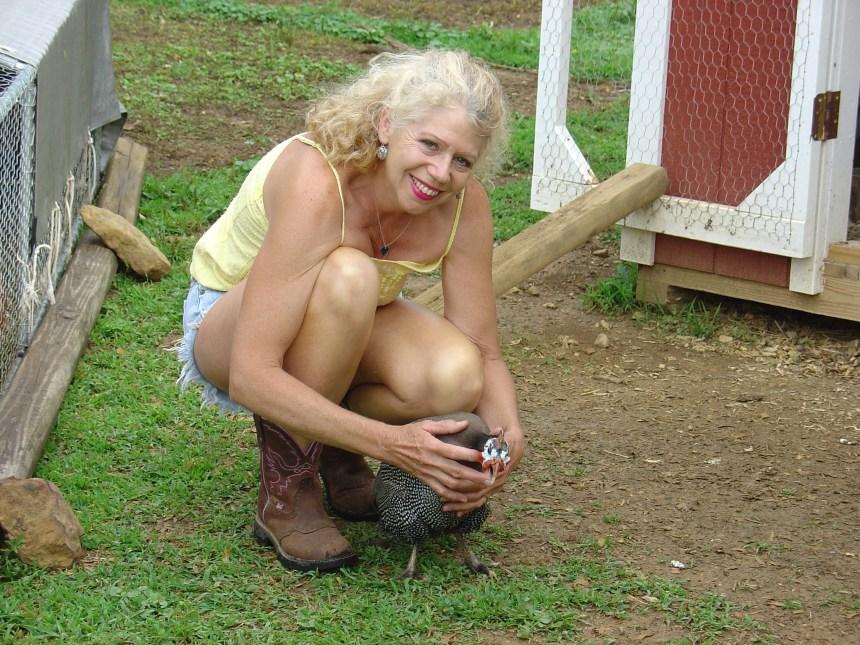 Jeanne McDonald and guinea