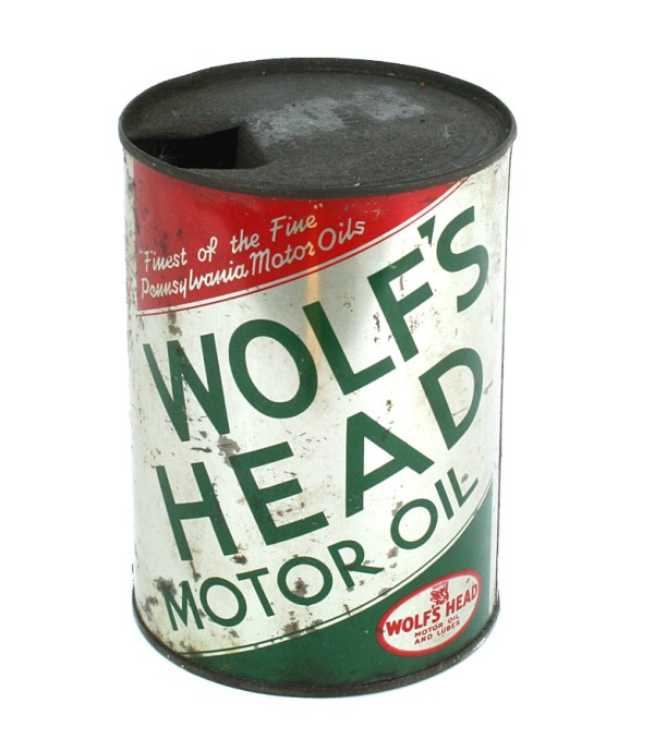 Wolf's Head Oil Can