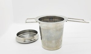 basket infuser with extra fine mesh and lid
