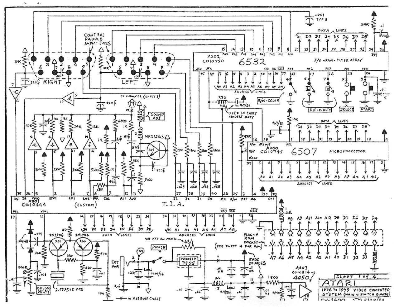 Atari Schematic