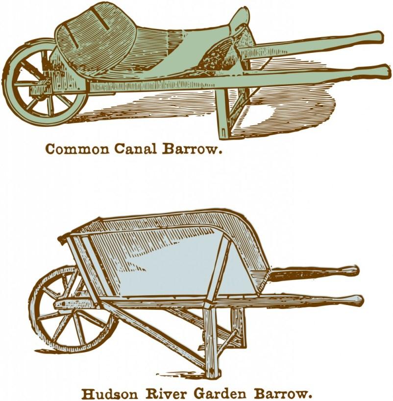 Vintage Wheelbarrow Garden Clipart
