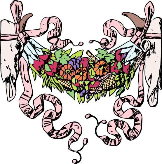 vgosn_southwest_vintage_clipart_image_cow_skulls_colored