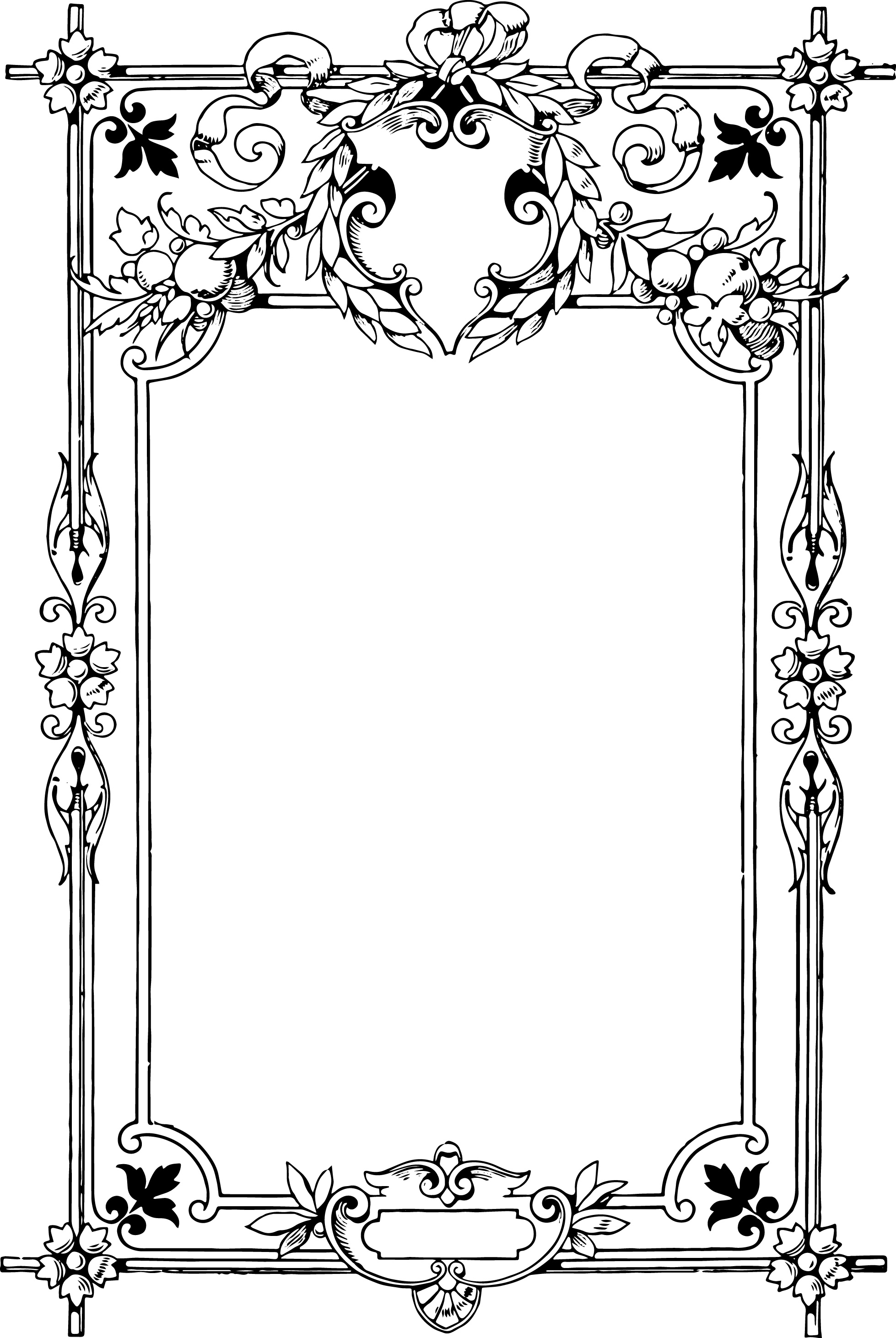 Gorgeous Clip Art Border Frame