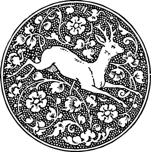 vgosn_vintage_deer_emblem_clip_art_image_black_white