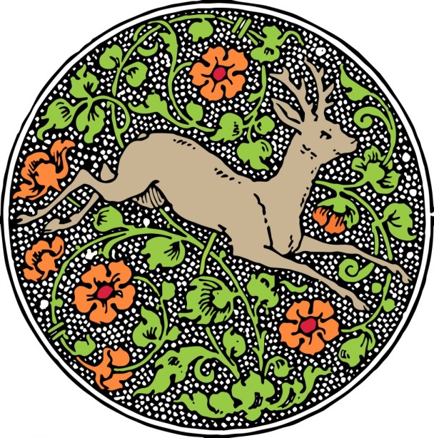 vgosn_vintage_deer_emblem_clip_art_image_colored