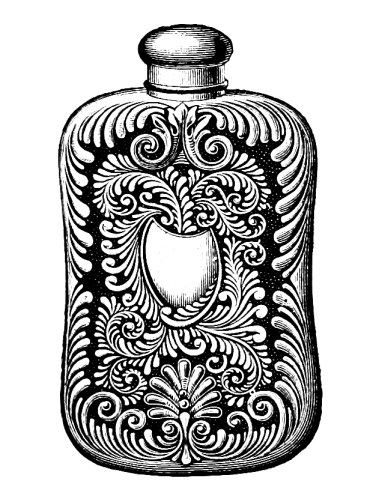 vgosn_vintage_flask_bottle_clip_art_image