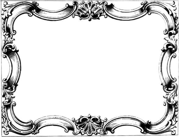 Vintage Ornate Border Frame – Free Clip Art Image | Oh So Nifty ...