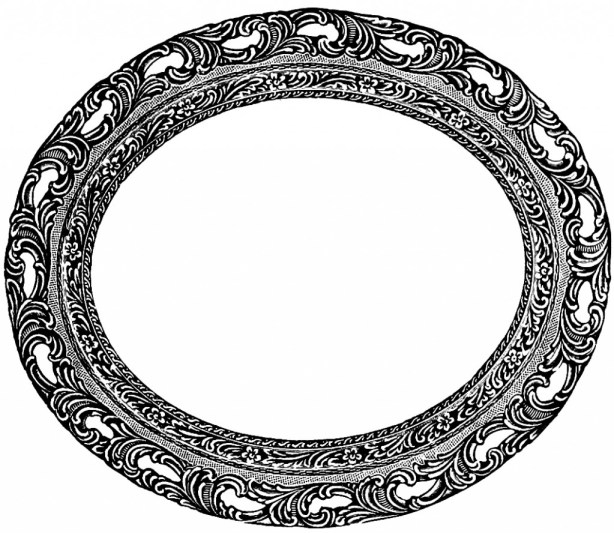 Vintage Oval Frame Clip Art Image | Oh So Nifty Vintage Graphics