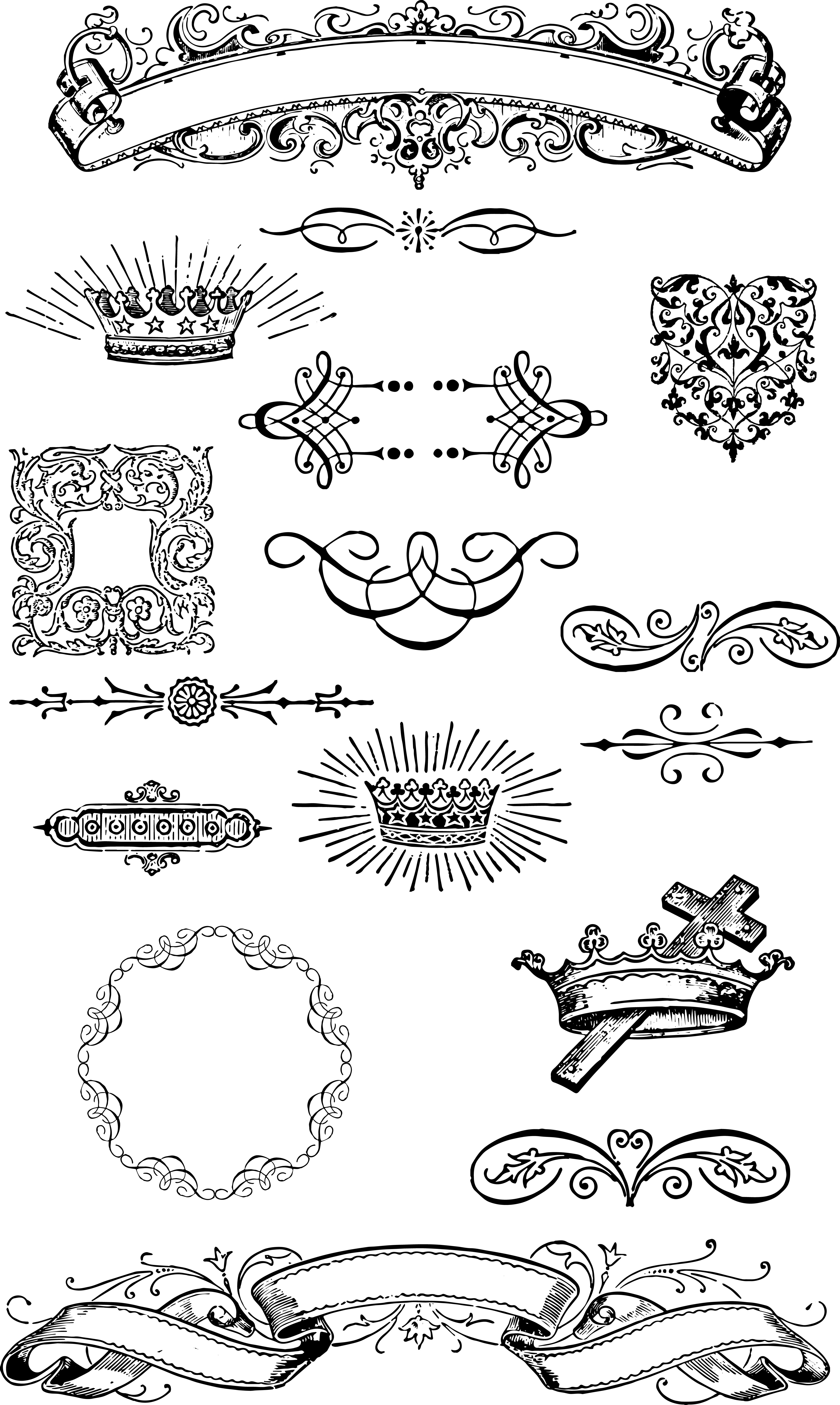 Free Vintage Grunge Vector And Clip Art Ornaments For T