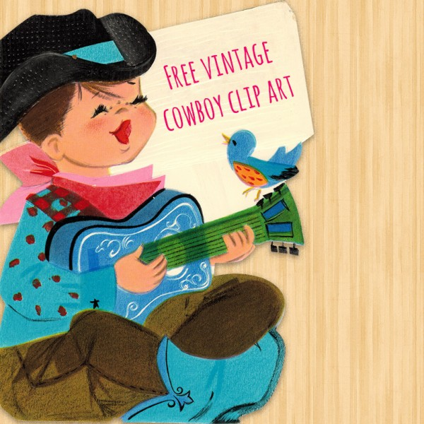 free clip art, free images, free clipart, clip art images, cowboy, guitar, bluebird,