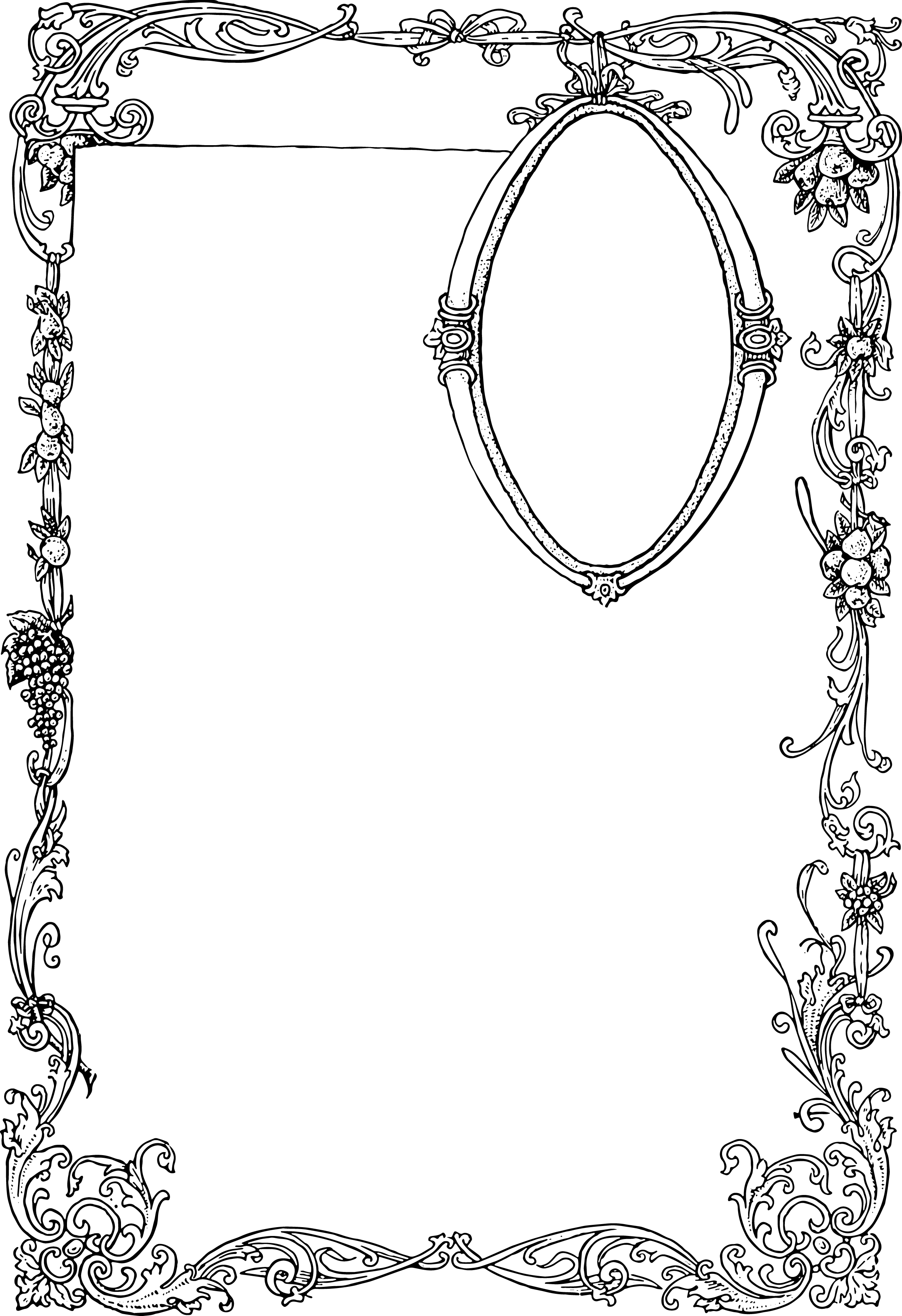Stunning Free Vector Art - Ornate Border and Frame | Oh So Nifty ...