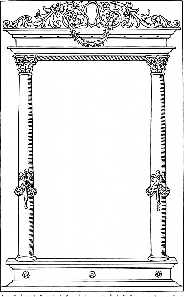 Border Frame for Card Making :: Oh So Nifty Vintage Clip Art ::