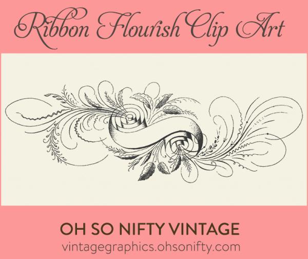 vintage ribbon clip art, free graphics, free clip art, free clip art images, clip art free, clip art free downloads, ribbon, flourish,