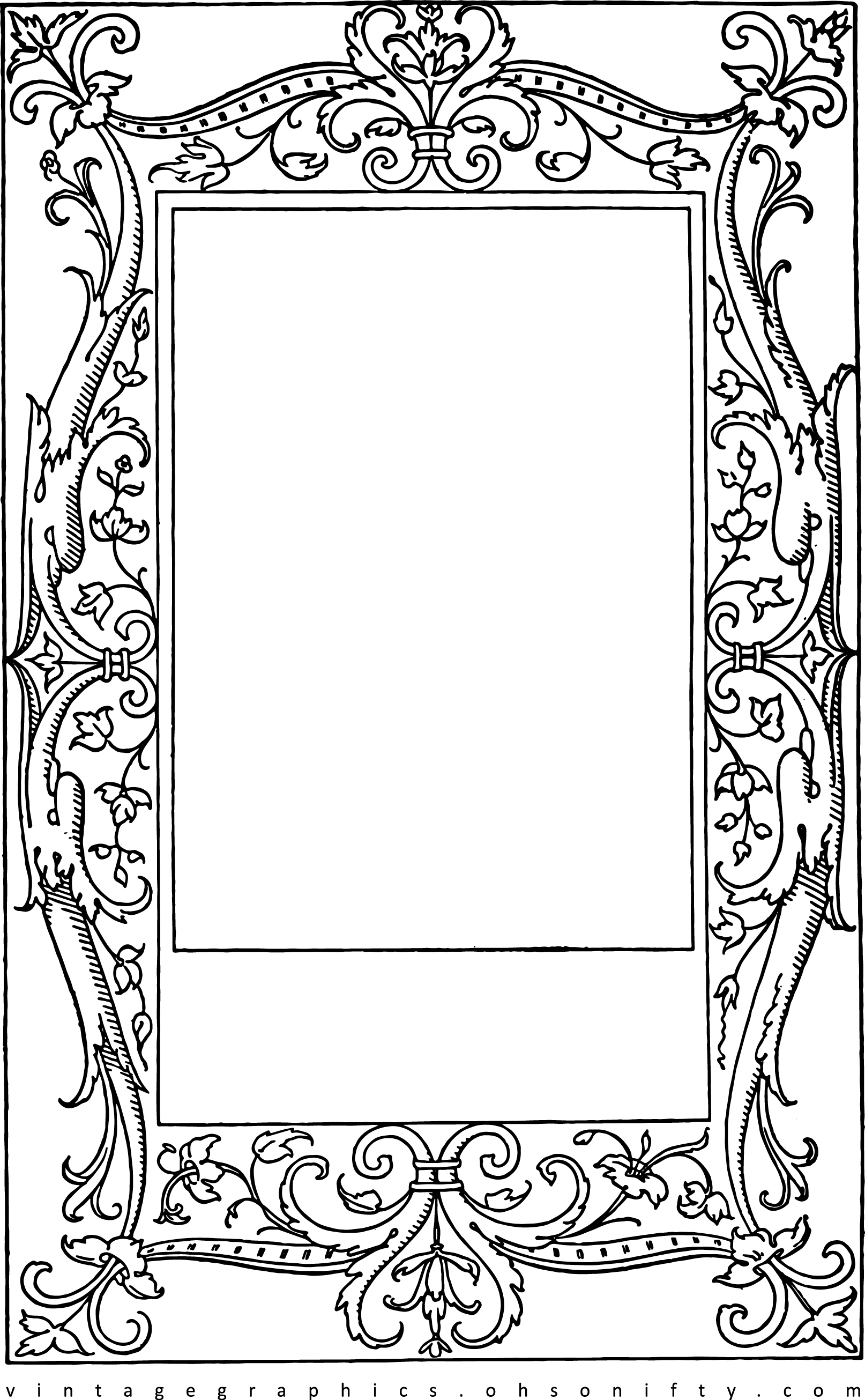 lovely stock images vintage frame clip art with Fancy Scroll Clip Art Scroll Work Designs