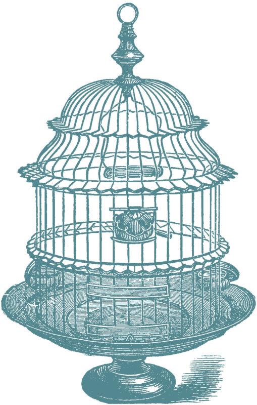 vgosn_stock_images_vintage_bird_cage_clip_art_blue