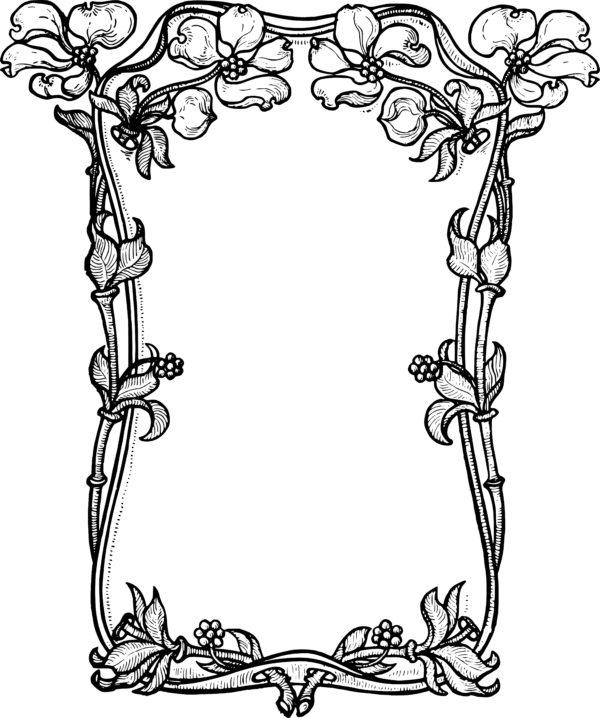 Stock Images - Dogwood Flower Frame Clip Art & Vector