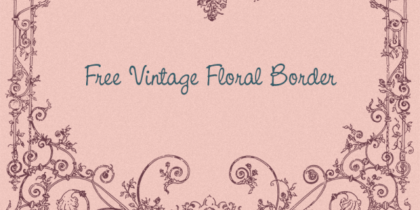 Vintage Royalty Free Images - Floral Border Illustration