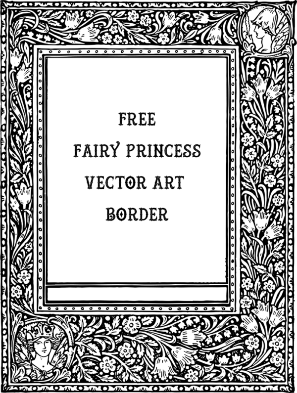 Beautiful Vector Art - Fairy Princess Border