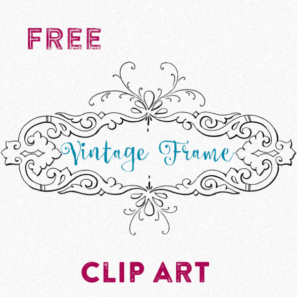Free Clip Art - Beautiful Vintage Frame