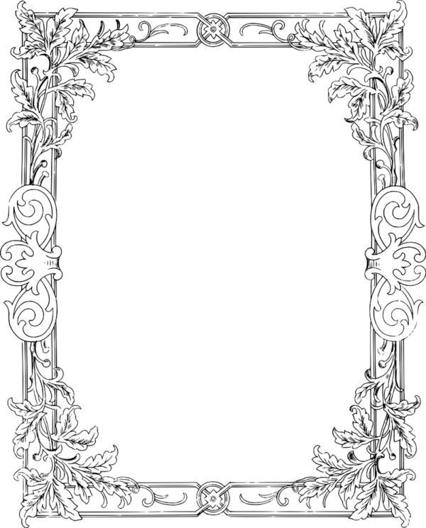 Free Clip Art Border - Vector Flourish