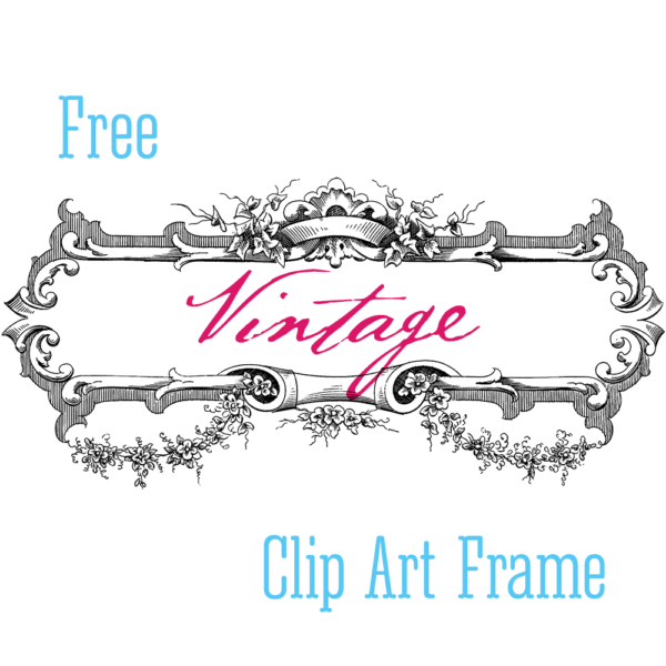 Stock Art - Vintage Label Frame