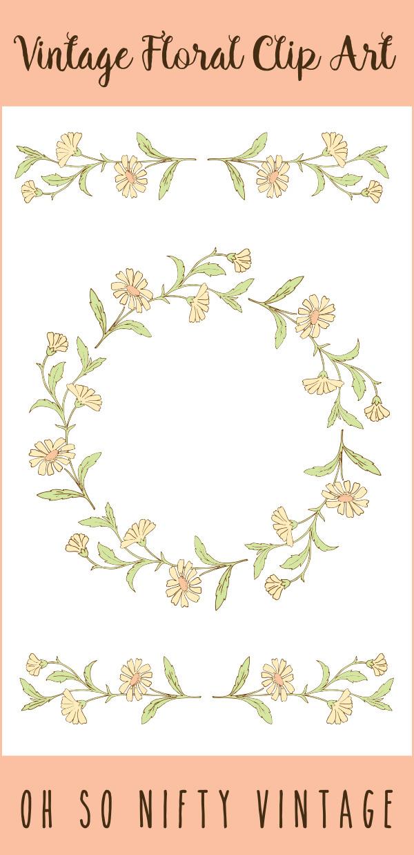 Lovely Stock Images | Vintage Floral Wreath & Divider