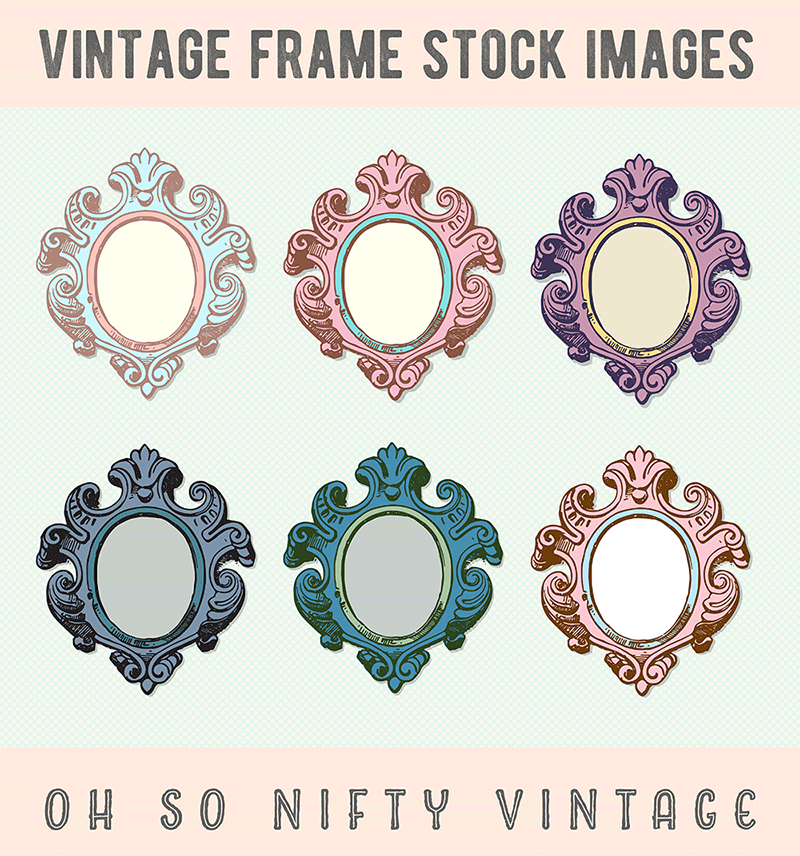 Stock Images | Colored Vintage Frames